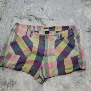 🏷️French Cuff Plaid colorful shorts